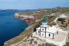 Φάρος Akrotiri, Santorini, Ελλάδα Στοκ εικόνες με δικαίωμα ελεύθερης χρήσης