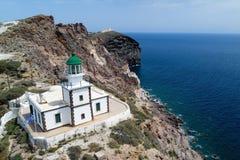 Φάρος Akrotiri, Santorini, Ελλάδα Στοκ Εικόνες