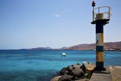 Φάρος arrecife teguise Lanzarote Ισπανία Στοκ Φωτογραφία
