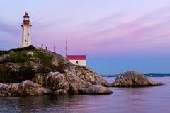 Φάρος Atkinson σημείου, δυτικό Βανκούβερ, Καναδάς Στοκ Φωτογραφία