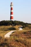 Φάρος Bornrif Ameland κοντά σε Hollum, Κάτω Χώρες στοκ φωτογραφία με δικαίωμα ελεύθερης χρήσης