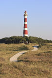 Φάρος Bornrif Ameland κοντά σε Hollum, Ολλανδία στοκ φωτογραφίες