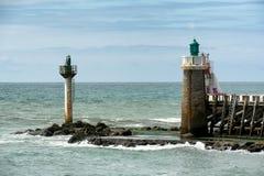 Φάρος Capbreton, Aquitaine, Γαλλία Στοκ εικόνες με δικαίωμα ελεύθερης χρήσης