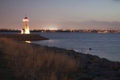 Φάρος dusk Στοκ Φωτογραφία