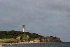 Φάρος Heiligenhafen στους απότομους βράχους Στοκ εικόνα με δικαίωμα ελεύθερης χρήσης