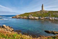 Φάρος Hercules Ένα Coruna, Ισπανία Στοκ εικόνες με δικαίωμα ελεύθερης χρήσης