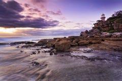 Φάρος Hornby 02 θάλασσας χαμηλό Στοκ Φωτογραφία
