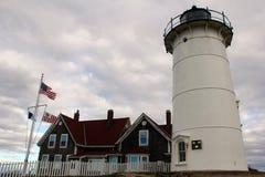 Φάρος Nobska, Falmouth, Μασαχουσέτη, Ηνωμένες Πολιτείες στοκ εικόνες