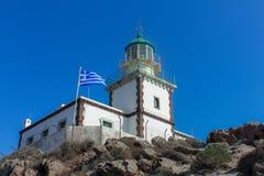 Φάρος Santorini Στοκ φωτογραφία με δικαίωμα ελεύθερης χρήσης