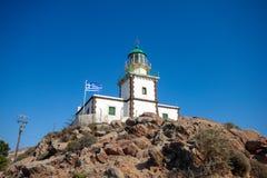 Φάρος Santorini Στοκ Φωτογραφία