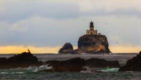Φάρος Tillamook, ακτή του Όρεγκον στοκ φωτογραφία με δικαίωμα ελεύθερης χρήσης
