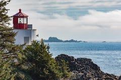 Φάρος Ucluelet στο Νησί Βανκούβερ Π.Χ. Καναδάς στοκ φωτογραφία με δικαίωμα ελεύθερης χρήσης
