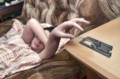 Φάρσα με την παγίδα και το ξυπνητήρι ποντικιών Στοκ Εικόνες