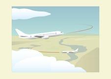 Φάσεις μιας πτήσης Αναρρίχηση και προσέγγιση Στοκ Φωτογραφία