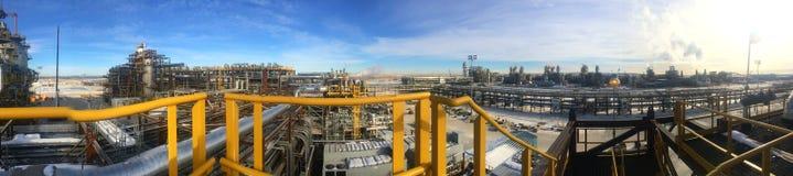 Φάση κατασκευής άμμων πετρελαίου Στοκ Φωτογραφίες