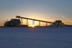 Φάση κατασκευής άμμων πετρελαίου Στοκ φωτογραφίες με δικαίωμα ελεύθερης χρήσης