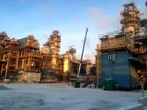 Φάση κατασκευής άμμων πετρελαίου Στοκ φωτογραφία με δικαίωμα ελεύθερης χρήσης