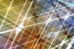 Φάσμα ηλιακής ενέργειας με τις γραμμές πλέγματος Στοκ Φωτογραφία