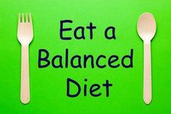 Φάτε μια ισορροπημένη διατροφή στοκ εικόνες