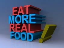Φάτε περισσότερα πραγματικά τρόφιμα απεικόνιση αποθεμάτων