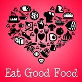 Φάτε τα καλά τρόφιμα διανυσματική απεικόνιση