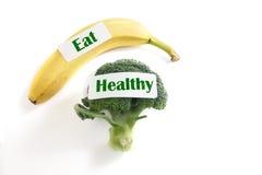 Φάτε τα υγιή πρόχειρα φαγητά Στοκ Εικόνες