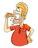 φάτε την πίτσα διανυσματική απεικόνιση