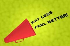 Φάτε τη λιγότερη αίσθηση καλύτερη! έννοια ελεύθερη απεικόνιση δικαιώματος