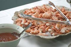 φάτε τις γαρίδες φλούδας Στοκ Φωτογραφία