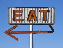 φάτε τον τρύγο σημαδιών κατ& Στοκ φωτογραφία με δικαίωμα ελεύθερης χρήσης