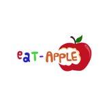 Φάτε το λογότυπο της Apple Στοκ φωτογραφία με δικαίωμα ελεύθερης χρήσης