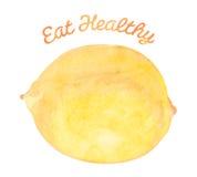 Φάτε υγιή - λεμόνι διανυσματική απεικόνιση