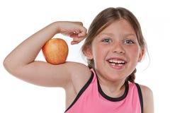 φάτε υγιή ισχυρό αίσθησης Στοκ Εικόνες