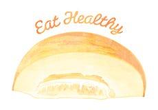 Φάτε υγιή - πεπόνι Ελεύθερη απεικόνιση δικαιώματος