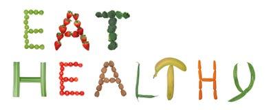 φάτε υγιή διανυσματική απεικόνιση