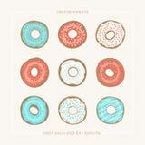Φάτε donuts διανυσματική απεικόνιση