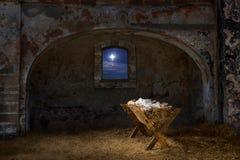 Φάτνη στην παλαιά σιταποθήκη Στοκ εικόνες με δικαίωμα ελεύθερης χρήσης