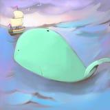 Φάλαινα ελεύθερη απεικόνιση δικαιώματος