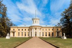 Φέουδο Arkhangelskoe Κιονοστοιχία του παλατιού Στοκ Εικόνες