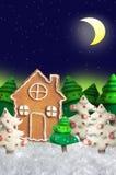φέρνει το διάνυσμα santa νύχτας απεικόνισης δώρων Claus Χριστουγέννων Στοκ Εικόνες