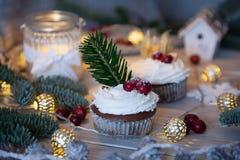 φέρνει το διάνυσμα santa νύχτας απεικόνισης δώρων Claus Χριστουγέννων Στοκ Φωτογραφίες
