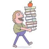 Φέρνοντας βιβλία Στοκ εικόνα με δικαίωμα ελεύθερης χρήσης