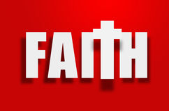 Φέρνοντας πίστη Στοκ Εικόνα