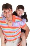 φέρνοντας πατέρας κορών Στοκ εικόνα με δικαίωμα ελεύθερης χρήσης