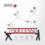 Φέρνοντας σκάλα concept.vector επιχειρησιακού Infographic ελεύθερη απεικόνιση δικαιώματος