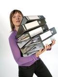Φέρνοντας φάκελλοι επιχειρηματιών στοκ φωτογραφία με δικαίωμα ελεύθερης χρήσης