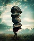 Φέρτε τις μεγάλες πέτρες στοκ φωτογραφίες