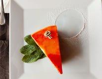 φέτα λεμονιών καρότων κέικ ανασκόπησης Στοκ Εικόνες