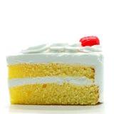Φέτα κέικ που απομονώνεται Στοκ φωτογραφία με δικαίωμα ελεύθερης χρήσης