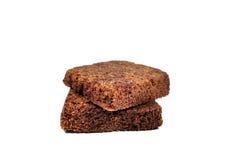 Φέτα κέικ σοκολάτας στο άσπρο υπόβαθρο Στοκ Εικόνες